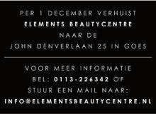 Elements Beautycentre gaat verhuizen vanaf 1 december!